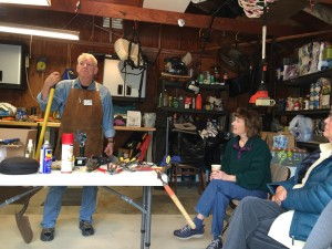 Master Gardener, Paul Dupratt gives members pointers on maintaining garden tools.